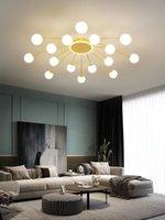 Modern Semplice LED Plafoniere Nordic Glass Ball Ball Golden Embedded Panel Light, usato nella decorazione domestica della sala da pranzo soggiorno