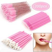 Makeup Brushes 200Pcs Disposable Eyelash Lip Brush Cotton Swab Micro Wands Individual Eyelashes Microbrush Lash Extension Accessories