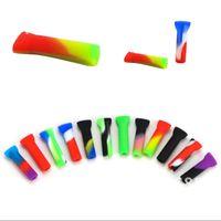 Soporte de la articulación de silicona con envases individuales Puntas de boca de filtro desechable para cono de papel rodante Tabaco Fumar accesorios 428 R2