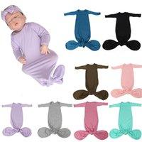 Baby Kids Sleeping Bags Solid color Long Sleeve O-Neck pajamas Sleep Bag cute infant Girls boys Nursery Bedding 8 colors Z3271
