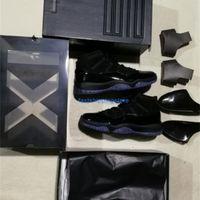 Gorra y vestido Blackout 11S Noche de graduación 11 Fibra de carbono real Top Calidad Gimnasio Red Gamma Blue Midnight Midnight Basketball Zapatos Concord 11 con caja