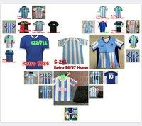1978 1986 Maradona Home Away Soccer Jersey Retro Version 86 78 قميص كرة القدم Batistuta Naples Boca Youth Barca 91 92