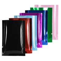 10% Off Smell Proof Plastic Bags Flat Open Top Heat Seal Pouches 100pcs Eco-friendly Aluminum Foil Mylar Packaging Bags Multi Colors Powder Storage Bags On Wholesale