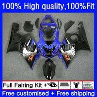 Injection Mold Bodys For SUZUKI GSXR600 GSXR-750 GSX-R750 K4 750CC 04 05 20No.61 GSXR 600 750 CC 600CC GSX-R600 Blue black new 04-05 GSXR750 GSXR-600 2004 2005 OEM Fairings