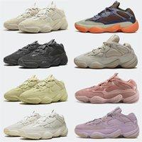 Kanye 500 Mens Scarpe Enfram Soft Vision Osso Bianco Black Blush Super Moon Giallo Salt Sale Donne Donne Sport Sneakers Scarpe da ginnastica Fornitori 36-46