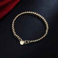 Rinhoo Simple Round Coppered Chare Bracte для женщин 3 Цвета Высококачественные Моды Очарование Дружба Ювелирные Изделия Подарок 21 см Браслеты