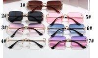 الصيف النظارات الشمسية النظارات المعدنية إطار واضح للرجال والنساء أزياء الدراجات glasse 7 ألوان خيارات المرأة القيادة الشمسي في الهواء الطلق شاطئ نظارات الشمس