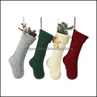 Festive Party Supplies Home & Garden Personalized High Quality Gift Bags Knit Christmas Decorations Xmas Stocking Large Decorative Socks Sea