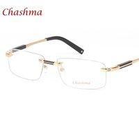 Chashma Brand Designer Titanium Очки RIMLELS MANS OPTICAL Оптовые Очки Кадр Миопия Бизнес Безрамные Очки Очки Кадр Человек 210323