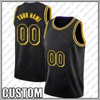 Özel Siyah Mamba Los Angeles Basketbol Takımı Jersey DIY Dikişli Adı Numarası Kazak Boyutu S-XXL XDMGH6