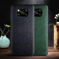 cases for Xiaomi Poco X3 NFC M3 F2 Pro X2 F3 Pocophone F1 cover case capa ,Retro business PU leather with TPU+PU 2in1 marterial