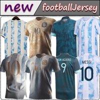 Argentina Soccer Jersey 20 21 Copa Home Away Camicia da calcio 2021 Messi Dybala Aguero Lo Celso Martinez Tagliafico FSAN versione per bambini Kit Kit Uniformi