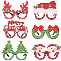 Eleganti decorazioni natalizie glitter occhiali cornice carino cartone animato alce albero festa festa piccoli regali a forma di lettere