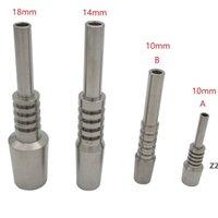 Titanium Nail Tip Nectar Collecteur Domeless Fumeurs Accessoires 10mm 14mm 18mm GR2 Invert Navigé 2 TI Nails TI pour NC Remplacement HWF10569