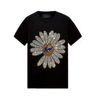 Summer Retro Mens Top Designer Designer T-shirt a maniche corte Slim Slim Crew Collo Casual Camicie Tee Mercerrized Cotton, S-6XL