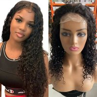 Brazilian Water Wave Wigs 4x4 Lace Closure For Women Remy Human Hair Pre-Plucked Hairline