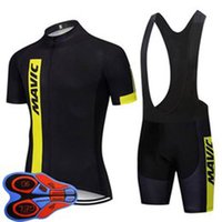 Mavic Takım Bisiklet Bisiklet Kısa Kollu Jersey Önlüğü Şort Set 2021 Yaz Hızlı Kuru Erkek MTB Bisiklet Üniforma Yol Yarışı Kitleri Açık Sportwear S21042933