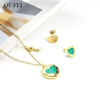 Earrings & Necklace OUFEI Jewellery Set For Woman Stainless Steel Heart Key Of Earring Charm Jewelry Accessories 2021 Wholesale