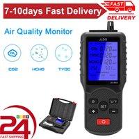 Analisadores de gás Testador de qualidade de ar multifuncional CO2 Medidor TVOC Temperatura Umidade Medição Dispositivo Dióxido De Carbono Monitor