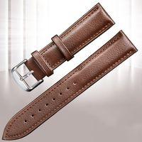 العصابات الفاخرة watchband 20 ملليمتر 22 ملليمتر ووتش حزام جلد طبيعي حزام ساعات الأعمال سوار على 18 ملليمتر 24 ملليمتر معصمه corroj