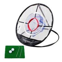 CrestGolf Golf Chipping Net Pratique Frappe Pitching Cage Fournitures de Nylon Aides à la formation