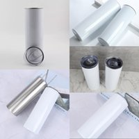 30o 20oz Stainless Steel sublimation straight tumbler vacuum Insulated coffee mug Thermos Bottle Car Cups with lid 886 Z2