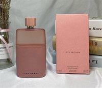 المصنع مباشرة جذابة العطور المرأة العطور 90 ملليلتر الوردي مذنب الحب طبعة او دي بارفان poue فام جودة عالية تسليم سريع
