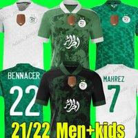 알제리 Mahrez 축구 유니폼 National Team Special Shirts 2021/22 BenseBaini Bennacer Football Jersey Atal Brahimi Benrahma Maillot de Algerien 남자 키트 21/22