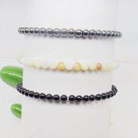 Handgemachte Schmuck Großhandel 3 stücke Set Perlen Stränge Armbänder 4mm Mini Edelstein Energie Armbänder Set, Natürliche handgemachte Kristall Perlen