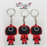 Squid key ring pendant game Korean drama squid chain personalized PVC soft glue