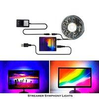 Вентиляторы Охлаждения AmbiLight RGB Светодиодное освещение фона для компьютерного / телевизора Экран дисплея Ambibox, смарт-подсведающая полоска атмосфера USB Control, 1-