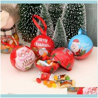 Festive Party Supplies Home & Garden7 Cm Hanging Metal Candy Tree Santa Pendant Childrens Sweets Gift Box Christmas Ball Decorations For Hom