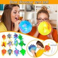 الأطفال أطفال لعبة مضحك تهب الحيوانات اللعب ديناصور القلق الإجهاد الإغاثة نفخ بالون الضغط الضغط تنفيس الكرة