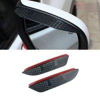 For Volkswagen Tiguan 2010-2021 Car Stickers Side Rear View Mirror Rain Visor Carbon Fiber Texture Eyebrow Sunshade Guard Cover Shield