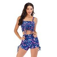 Casual Kleider Geräucherte Zugband Badeanzug Badeanzüge Frauen Bikini Mädchen Sexy Badebekleidung Beachwear