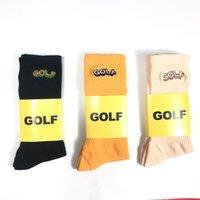 망 양말 골프 왕 자 수 3 색 순수한 면화 스케이트 보드 패션 편지 인쇄 스포츠 SOCKINGS 힙합