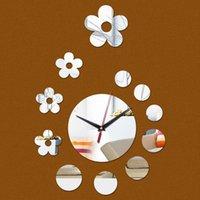 Wall Clocks Quartz Classical post-modern Design Luxury Mirror Clock Home Decoration Crystal