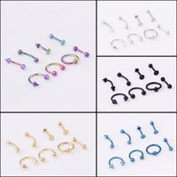 9Pcs Golden Helix Cartilage Clip On Wrap rings Fake Nose Ring Non-Piercing Hoop Cuff Earring Adjustable C3