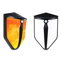 Lampy płomieniowe słoneczne LED Dekoracyjne Sconce Auto On / Off Oświetlenie zewnętrzne Wodoodporne Światła Wall Lightsor Motion Do Krajobrazu Ogród Courtyard