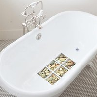 Funlife 3D Anti Slip Waterproof Bathtub Sticker,Self-adhesive Tub Decal,Cobblestone For Kids Shower Bath Mats Bathroom Decor EWA5408