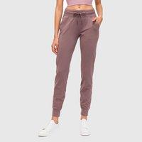 스텝 여자 운동 조깅하는 포켓 Drawstring로 스웨트 팬츠를 실행하는 착용감이 테이퍼 진 조거 바지 라운지
