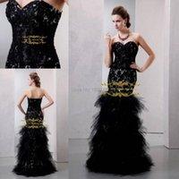 Vestidos de fiesta 2014 Sexy aplique negro Sirena PROM PROM VESTIDOS DE FIESTA SHETHETHEART BUACHNESS ORGANA Duración del piso XY142