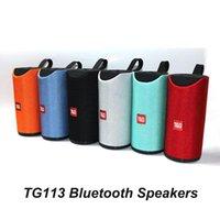 TG113 Hoparlör Bluetooth Kablosuz Hoparlörler Subwoofers Eller Ücretsiz Çağrı Profil Stereo Bas Desteği TF USB Kartı Aux Hattı Hi-Fi Loud Hoparlör TG 113