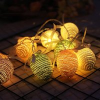 Strings Miflame LED LED Corda de Páscoa Corda Ovo Bateria Colorida Luzes Decorativas Decorações de Natal para Casa ao ar livre
