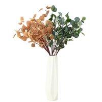 اكليل الزهور الزخرفية 90 سنتيمتر محاكاة فروع التفاح الكبيرة والأوراق الزفاف المنزل حديقة مشروع الديكور الطابق زهرة الدعائم