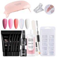 Nail Art Kits Extension Kit 5 X 15Ml Gel,35ML Cleanser Plus,9W Mini Lamp,Top, Base Coat,100 Mold, Sanding Paper,UV Brush
