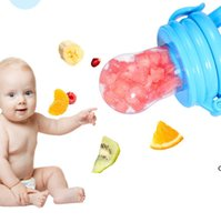 Bébé bébé Teter Teter Nipple Fruit Food Vaisselle Dinicone Silicone Sécurité Enfants Feeding Fearing Mot 4 Couleurs HWD7113