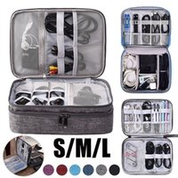 Toiletry Kits Portable Digital Storage Bags Organizer USB Gear Cables Wires Charger Power Battery Zipper Phone Bag Case Travel Accessories