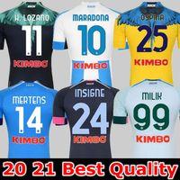 20 21 Napoli 특수 축구 유니폼 나폴리 축구 셔츠 2021 Koulibaly Camiseta de fútbol insigne milik maillots h.lozano mertens 남자 아이들