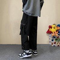 Women's Pants & Capris Streamer overalls men summer thin loose straight casual pants Korean fashion high street handsome plus size